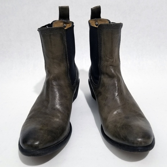 Frye Shoes - Frye Carson Chelsea Ankle Boots - Charcoal